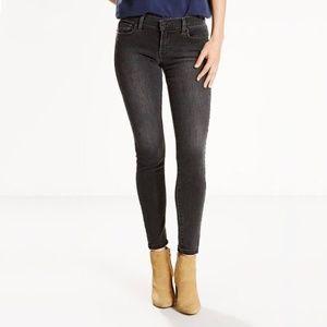 Levi's 710 Super Skinny black wash/ grey jeans 30